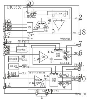 模式降压-升压(buck-boost)开关稳压器,其内部电路组成框图如图2所示.
