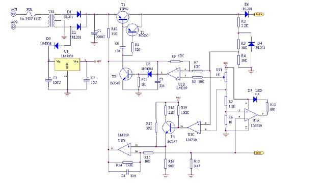 电瓶充电器原理如下图