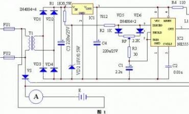 充电电路的控制吸收电容充放电电路图